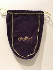 "CROWN ROYAL BAG PURPLE 9"" WITH DRAW STRING -  NEW"