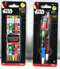 Disney Star Wars 2 Pens & 5 Mechanical Pencil Black Ink 0.7 point  New SS11