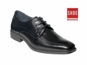 Hush Puppies MERCHANT Black Mens Lace-up Dress/Formal Leather Shoes