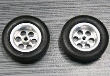 SLOT CAR  Rear Aluminum Mag Tires/Wheels VINTAGE 1/24 SCALE