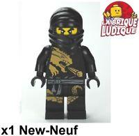 Lego - Figurine Minifig Ninjago Cole DX Dragon ninja noir black njo015 NEUF