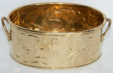 Oval Solid Brass Container by Hosley