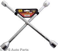4 Way Universal Wheel Nut Brace 17mm 19mm 21mm 23mm Car Van Wrench Cross Spanner