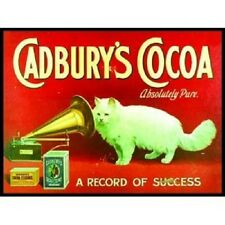 New 30x40cm Cadbury's Cocoa cat reproduction vintage metal advertising sign