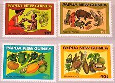 PAPUA NEUGUINEA NEW GUINEA 1982 435-38 562-65 Food Lebensmittel Ernährung MNH