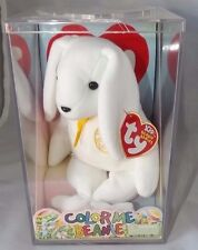 Ty Beanie Babies Color Me Beanie Rabbit with Markers in Ty Display Box NWT 8""