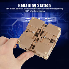 90mm HT-90X BGA Reballing Kit Soldering Station Auto Magnet Stencil Holder Base