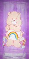 Vtg Care Bears Cheer Bear Rainbow Pizza Hut Drinking Glass Cup 1983