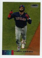 2020 Topps Stadium Club 235 CARLOS SANTANA Cleveland Indians PHOTO BASEBALL CARD