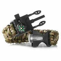 NEW X-Plore Gear Emergency Paracord Bracelet Camo Survival Cuff Compass Flint
