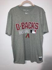 Arizona Diamondbacks Nike Authentic Graphic T-Shirt D-Backs Baseball Gray Red M