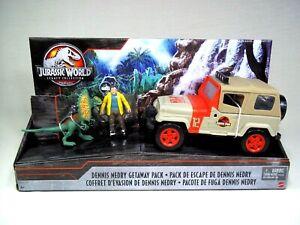 Jurassic World Legacy Dennis Nedry Getaway Pack Jeep Dilophosaurus Jurassic Park