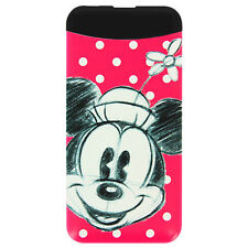 Disney Chargeur Secours 6000mAh Batterie Externe USB Minnie Mouse - Rouge