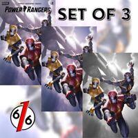 🚨💥 POWER RANGERS #1 JUNGGEUN YOON Exclusive Variant SET OF 3 Ltd 100 COA