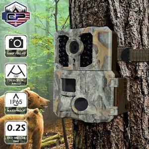 ICLOVER Trail Camera 24MP Wildlife Hunting Game Cam Night Vision IP66 Waterproof