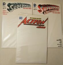 ACTION 1000 COMICS  SUPERMAN UNCHAINED NEW 52 BLANK SKETCH COVER VARIANT 3X  LOT