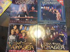 Star Trek Voyager Calendars 1997, 1998, 1999, 2000 New Sea 00006000 led