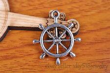 5pcs 29*25mm rudder bracelet pendant Charm Tibet silver metal diy jewelry 7114