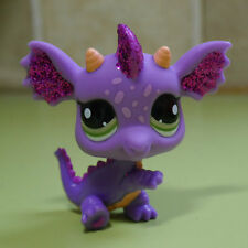 Dragon green eyes Littlest pet shop LPS #2660 mini Action Figures  Purple shine