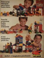 PUBLICITÉ 1995 DUPLO DE LEGO L'IMAGINATION GRANDISSANTE - ADVERTISING