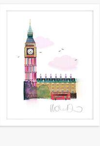 Place of Westminster & Big Ben London Framed Print & Mount, 33.5 x 27.5cm