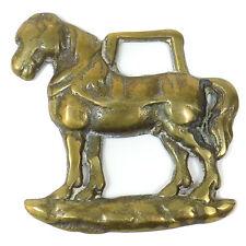 Vintage Horse BRIDLE CHARM Medallion Solid BRASS Decoration STOUT PONY