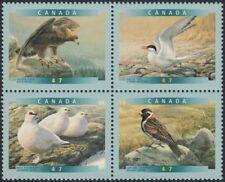 EAGLE = TERN = PTARMIGAN = Bird = Block of 4 stamps Canada 2001 #1886-89 MNH-VF