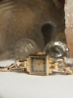 VINTAGE SWISS MADE 9CT SOLID GOLD CASE LADIES WATCH 15 JEWELS - FOR PARTS OR NOT