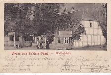 AK Berlin Tegel. Schloss Tegel - Waldschänke um 1902