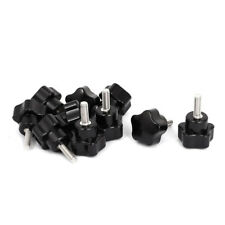 10x Black M5x15mm Male Thread Screw Star Head Cap Clamping Knob Grip P5J1