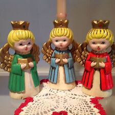 Vintage Christmas Angels Candleholders 3 Ardco