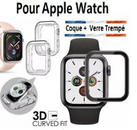 COQUE GEL + VITRE VERRE TREMPÉ 3D FILM PROTECTION INTEGRALE PR TOUT Apple Watch