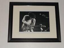 "Framed Stevie Ray Vaughan 1988 On Stage #2 SRV Guitar God 14""x16.5"" RARE!"