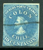 Chile 1853 First Issues 10¢ Columbus  VFU F926