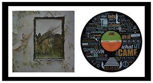 LED ZEPPELIN - MEMORABILIA - VINYL RECORD LYRIC ART + Cover - Stairway to Heaven