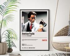 American Psycho Movie Poster, Modern Wall Art Print