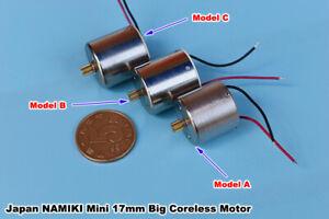 Micro Mini 17mm 5-Pole Big Coreless Motor Gear 3V 3.7V 5V 6V 7.4V 12V High Speed