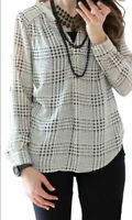 Stitch Fix Hawthorn 41 Ackley Houndstooth Blouse Small Long Sleeve White Black
