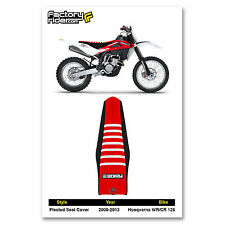 2009-2013 HUSQVARNA WR-CR 125 Black/Red/White RIBBED SEAT COVER by Enjoy MFG