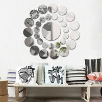 31PCS  Round Mirror Wall Sticker Acrylic Surface Decal Home Room DIY Art Decor