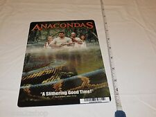 Anacondas hunt blood orchid RARE movie mini POSTER collector backer card 8x5.5