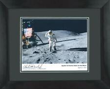NASA Apollo 16 Framed Moon Photo Signed By Astronaut Charlie Charles Duke Coa