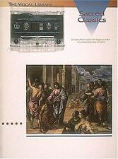 The Vocal Library Sacred Classics Low Voice Piano Sheet Music W/ Cassette New