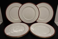 Set of 7 Minton Fine Bone China SATURN Red Royal Doulton Dinner Plate 10 3/4""