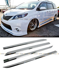 FOR:2011-2016 TOYOTA SIENNA CHROME VIP ABS SIDE DOOR BODY MOLDING MOULDING TRIM