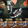 Men's Trend Breathable Sneakers Casual Graffiti Lace-Up Canvas Walking Shoes New