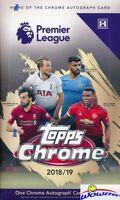 2018/2019 Topps CHROME Premier League Soccer Factory Sealed HOBBY Box-AUTOGRAPH
