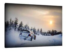 Sébastien Ogier VW Polo WRC - 30x20 pollici Tela Foto Incorniciata stampa RALLY