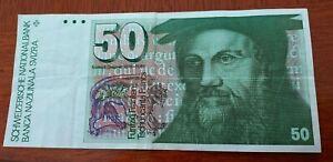 50 Swiss Francs banknote. # 2.