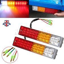 2X LED Trailer truck Tail lights Indicator brake Stop Light Reverse Lamp 12V/24V
